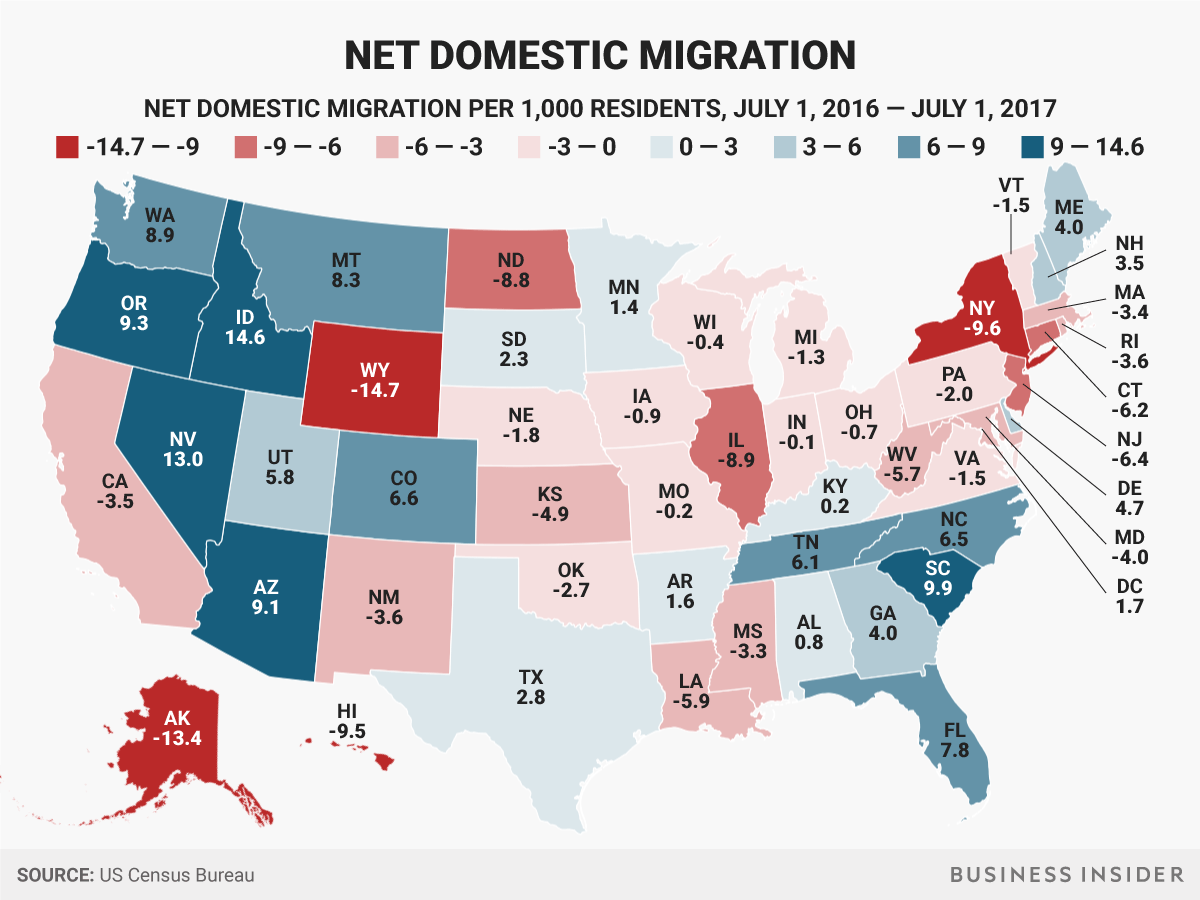 State Domestic Migration Map To