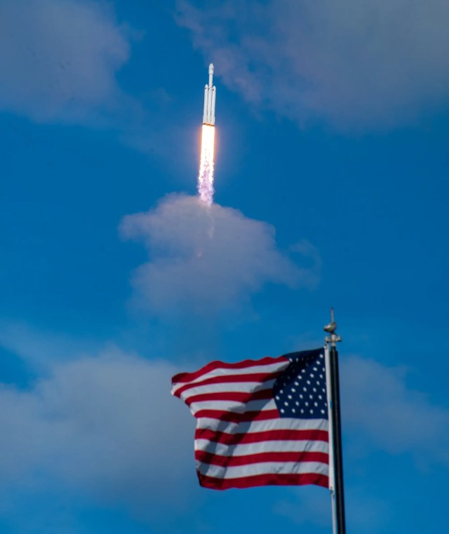 falcon heavy rocket launch american flag dave mosher business insider