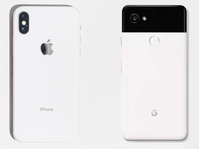 iphone x vs pixel 2 xl back