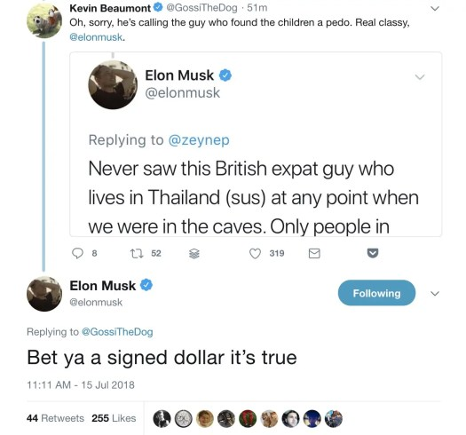 Elon Musk calls a diver who helped in the Thai cave rescue ...