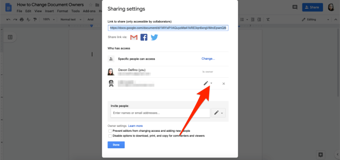 3 HOW TO CHANGE OWNER GOOGLE DOCS
