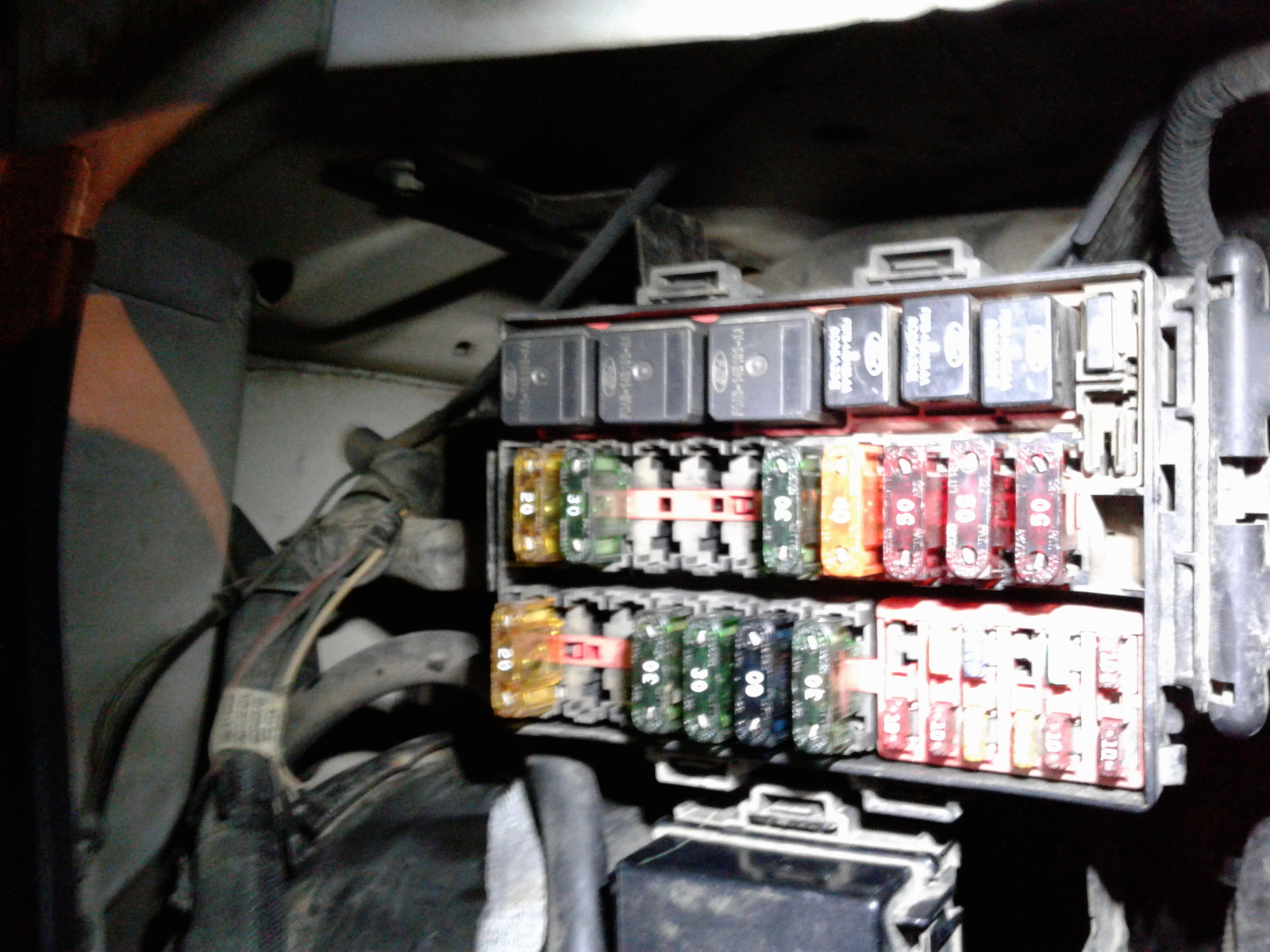Ford F250 Fuse Panel Diagram Battery Junction Box Legend