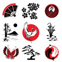 Japanese design elements  Stock Vector  print2d #4492097