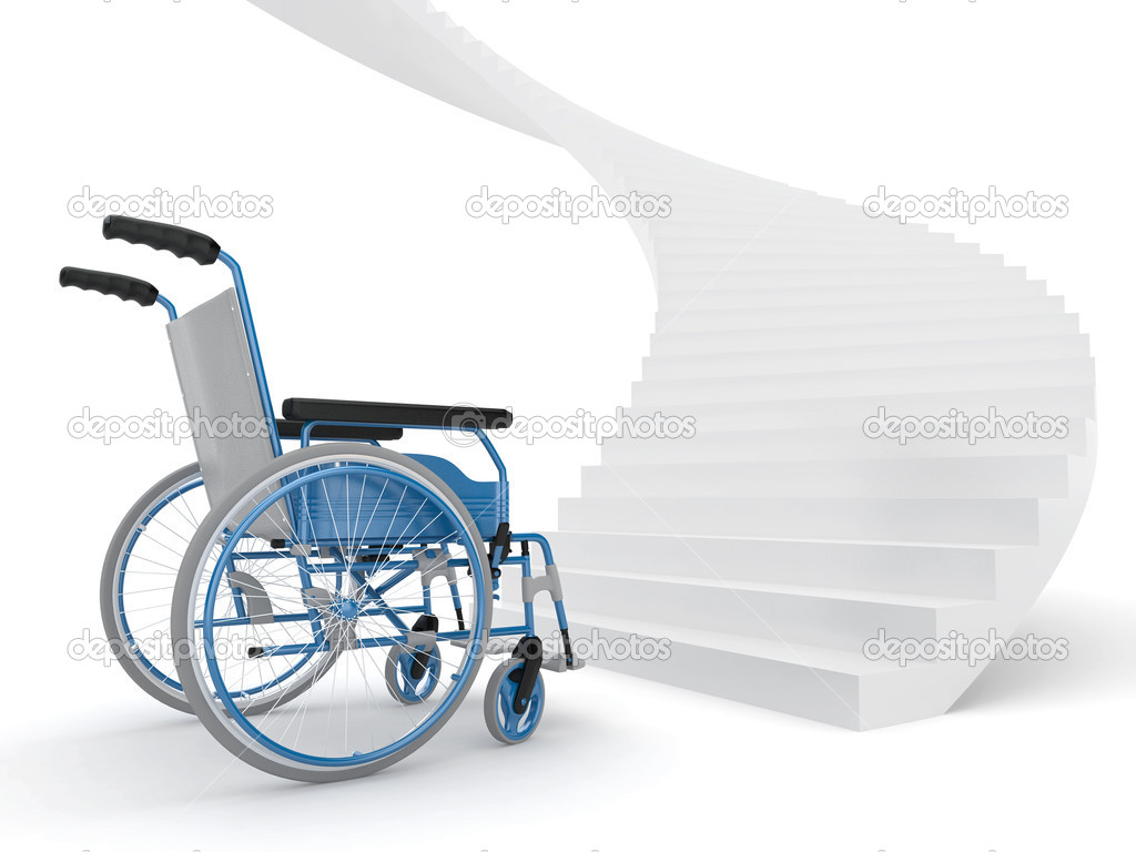 wheelchair up stairs red desk chair canada and  stock photo maxxyustas 5219351