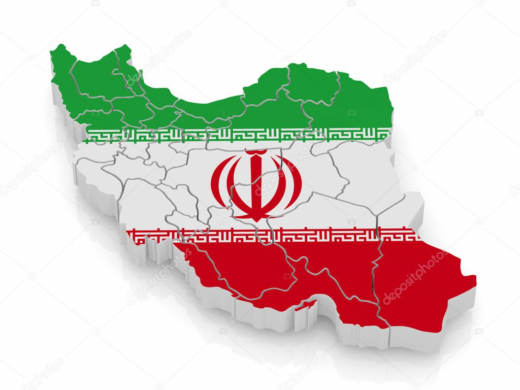 3d Iran Flag Live Wallpaper Map Of Iran In Iranian Flag Colors Stock Photo