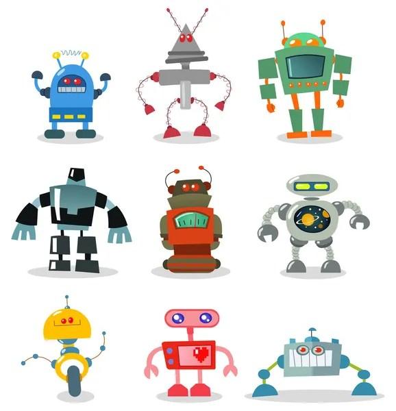 robot stock vectors royalty