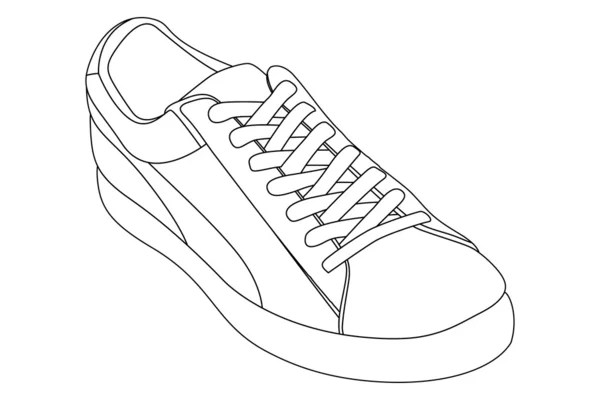 Outline shoes — Stock Vector © Chisnikov #8895375