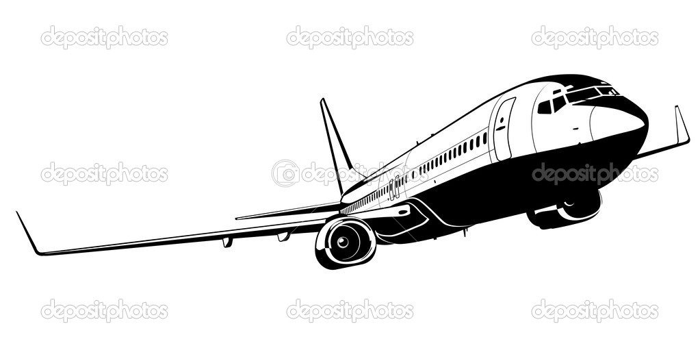Vector Boeing 737 — Vetor de Stock © mechanik #4728297