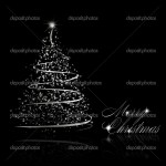 Abstract Silver Christmas Tree On Black Background Stock Vector C L Amica 4395654