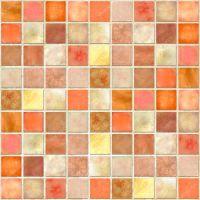 Orange Tile Mosaic  Stock Photo  luceluceluce #4910815