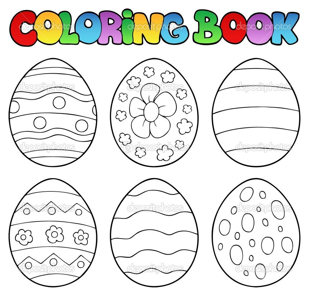 Coloring Book With Easter Eggs