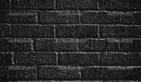 Black painted brick wall  Stock Photo  joiner1 #5343584