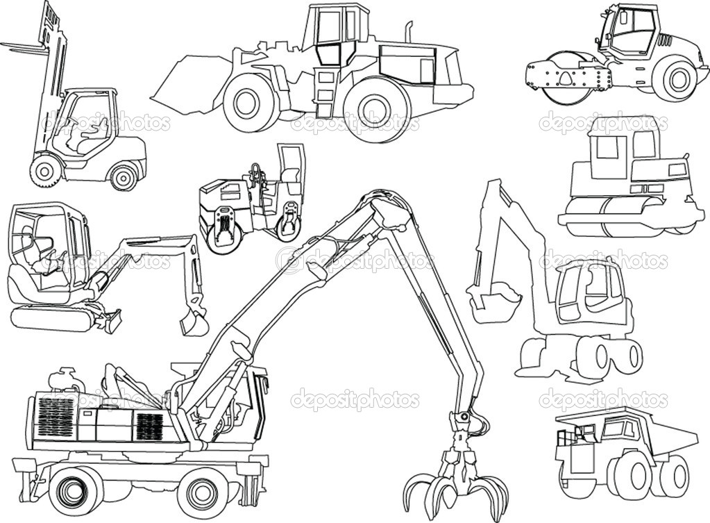 M/construction Site Coloring Sheet Coloring Pages
