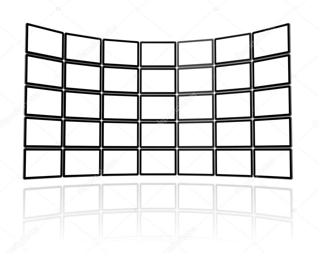 Video wall made of flat tv screens — Stock Photo © daboost