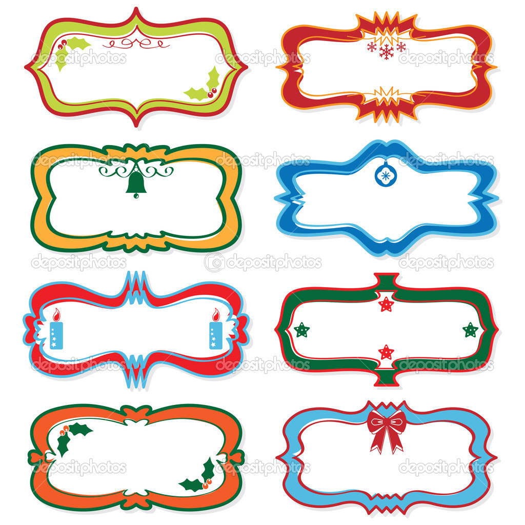 blank christmas labels stock