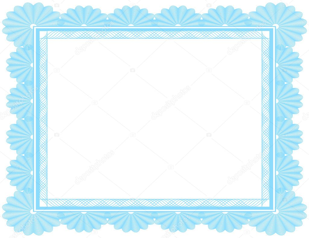 Ornate Blank Certificate in Blue — Stock Vector © apotterdd #5339370
