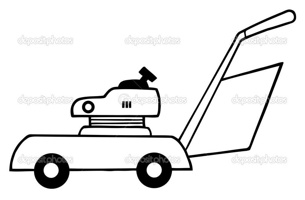 Outlined Lawn Mower — Stock Photo © HitToon #4724980