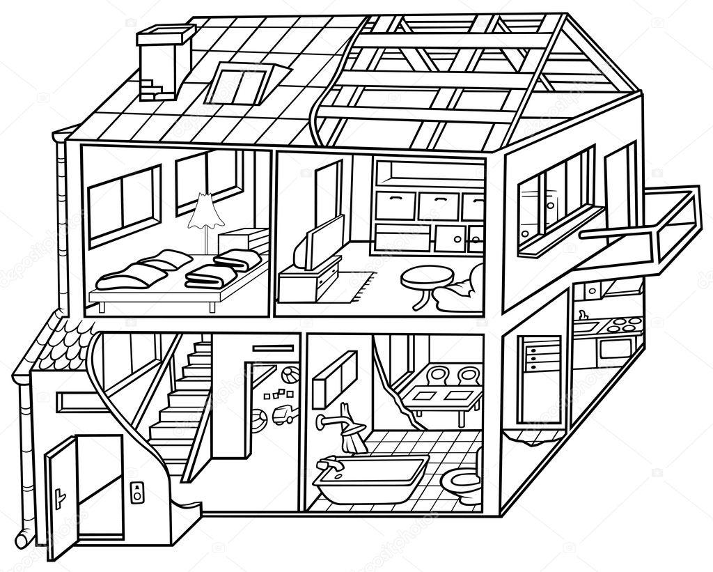 Dwelling House — Stock Vector © dero2010 #4792469