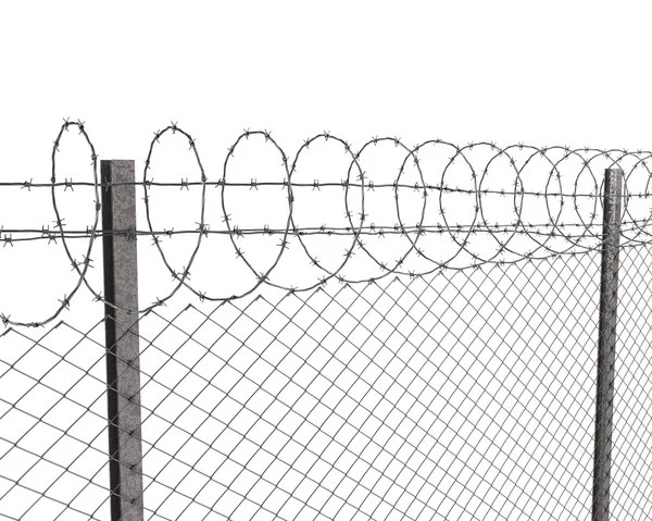 Razor wire prison fence — Stock Photo © mauijon #10534032
