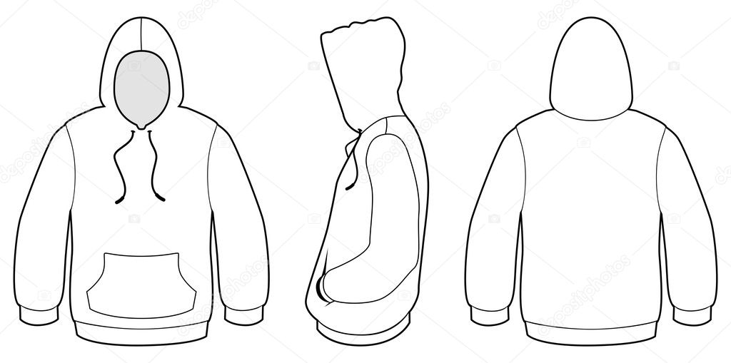 Hooded sweater template vector illustration. — Stock
