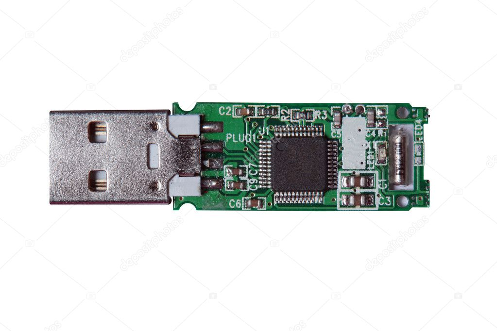 The Flash Memory Card On The Circuit Board