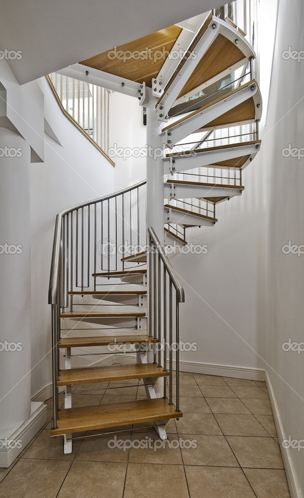 Spiral Stairs — Stock Photo © Jrphoto 5202798 | Spiral Staircase Wooden Steps | 2 Floor | Traditional | Enclosed | Kid Friendly | Solid