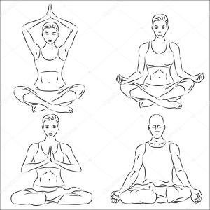 yoga sketch illustration vector depositphotos illustation igorij