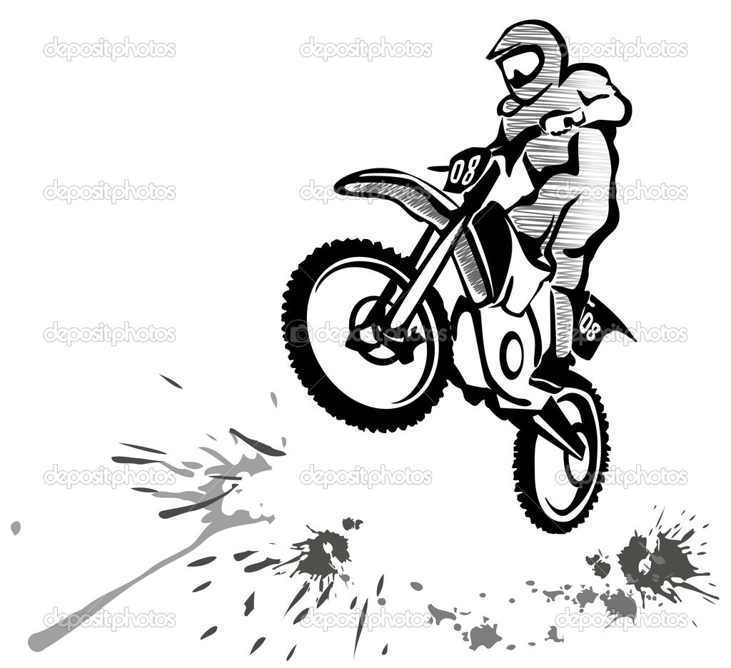 Illustration De Motocross