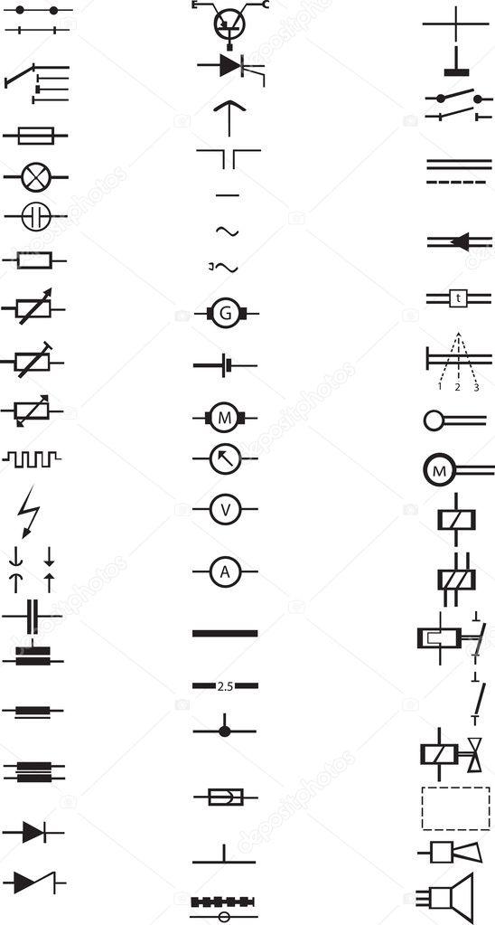 Eine umfangreiche Liste von zahlreichen elektrischen