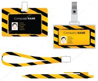 Name tag for id card - special design  Stock Vector ...