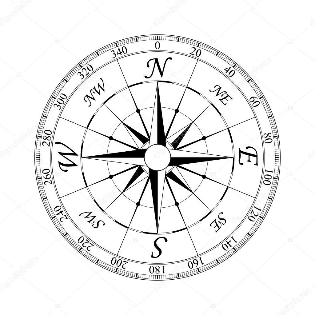 Compass Rose#2 — Stock Vector © Volgarud #5279104