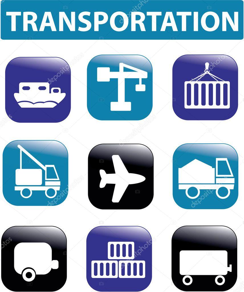 Transportation Signs — Stock Vector © Gupusk #5016834
