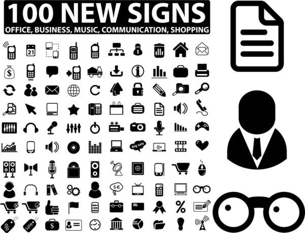 100 big business signs — Stock Vector © gupusk #5020518