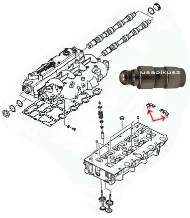 Popychacz hydrauliczny zaworów Chrysler Voyager 2,5 CRD