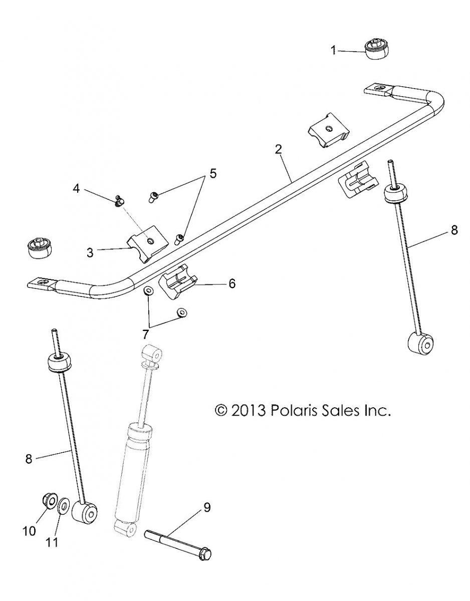 Drążek stabilizatora przedniego Polaris RZR 57 800 1542748