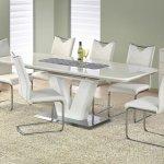 Wohnzimmeresstisch Weiss Mistral St Umgeklappt Bis 220 Cm Mdf Lackiert Set Esstisch Stuhle Modern Design