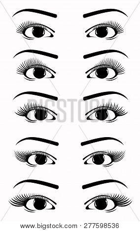 Eyelash Extension Shape, Eyelash Extension Set, Eyelash