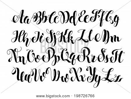 Handwritten Calligraphy Symbols. Black and white lettering