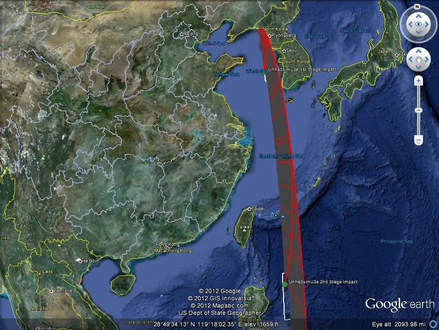 North Korea Missile Flight Path