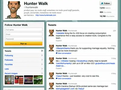 Hunter Walk is regularly retweeted by people on this list