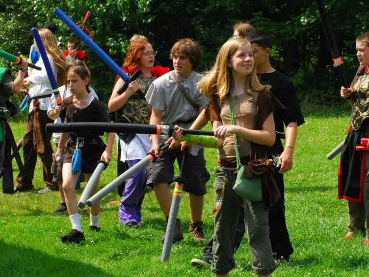 At Wizards & Warriors Camp, kids spend the summer fighting zombies.