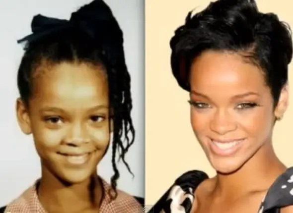 Rihanna grew up in a three-bedroom bungalow on the island of Barbados.