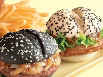McDonald's Black and White Hamburger Combo