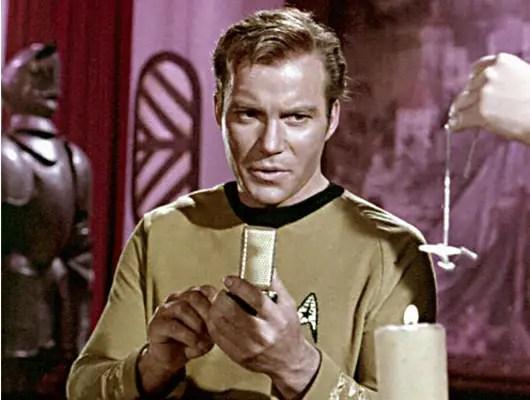 """1966-1969: Captain Kirk's gold cell phone in """"Star Trek."""""""