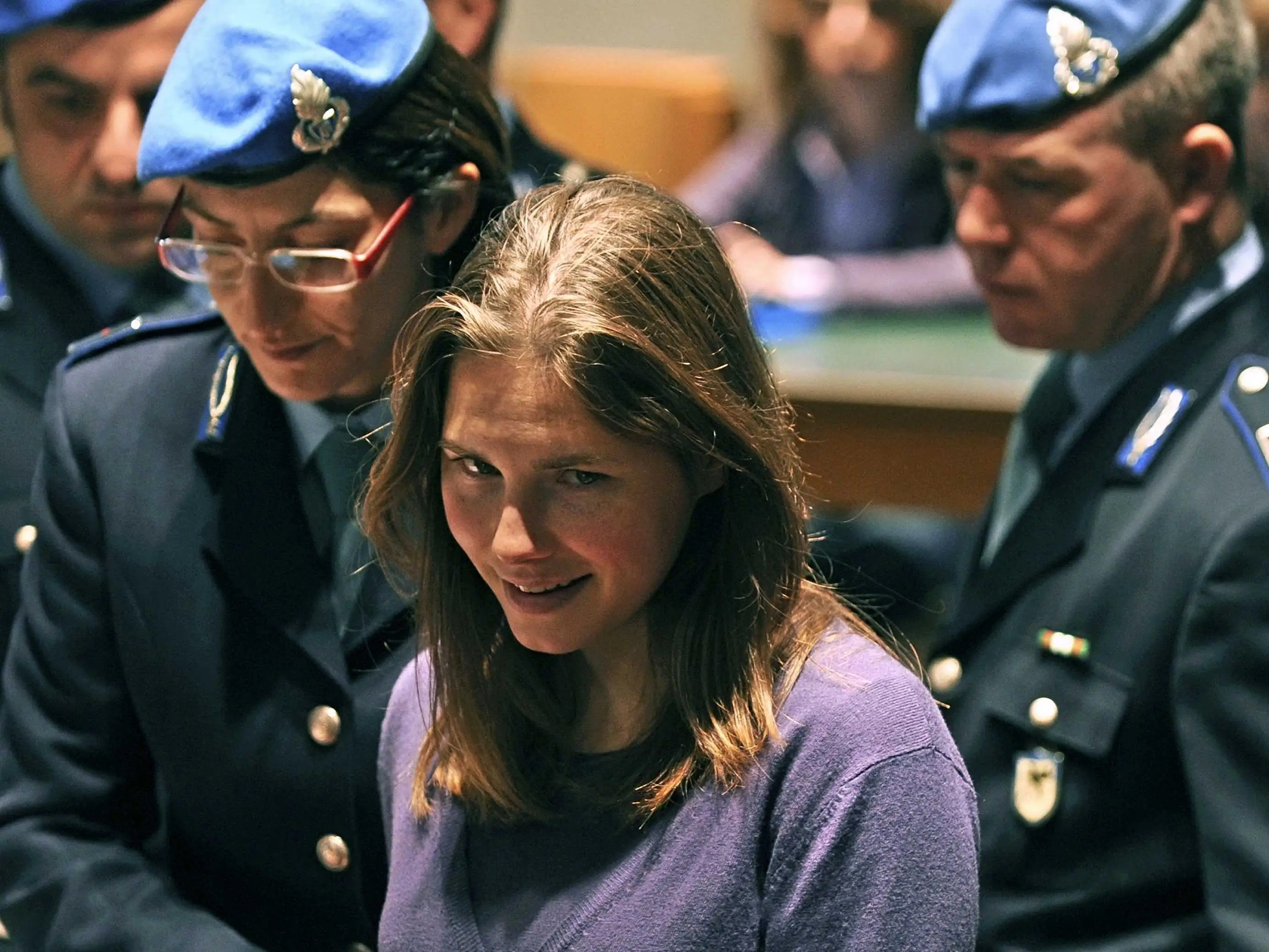 Image result for amanda knox during trial