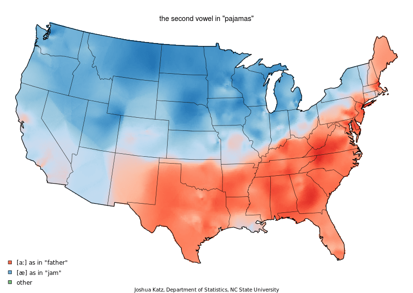 """Some of the deepest schisms in America are over the pronunciation of the second syllable of """"pajamas"""""""