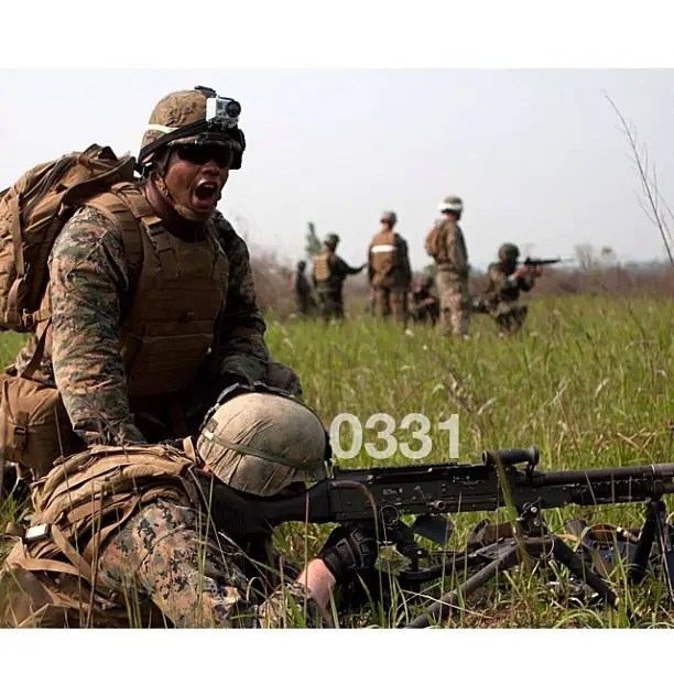 0331 is the designation for Marine Corps machine gunners.