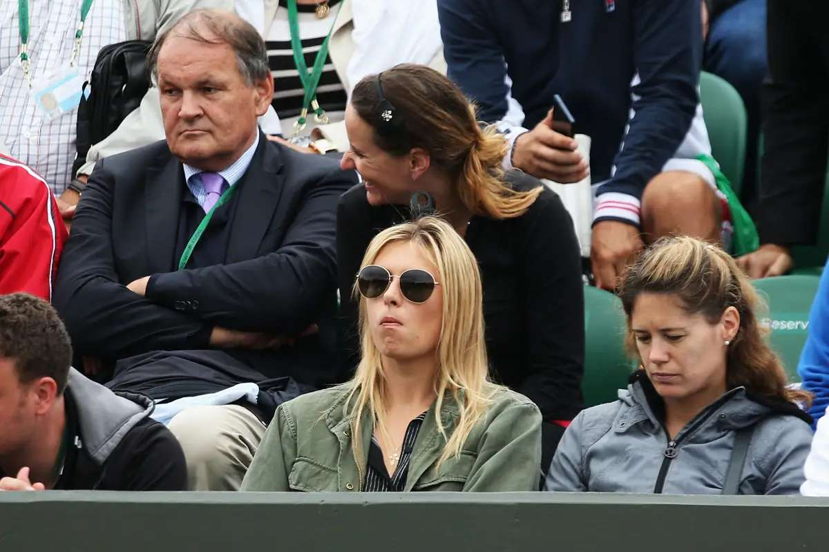 Now she's in Grigor's box at his matches