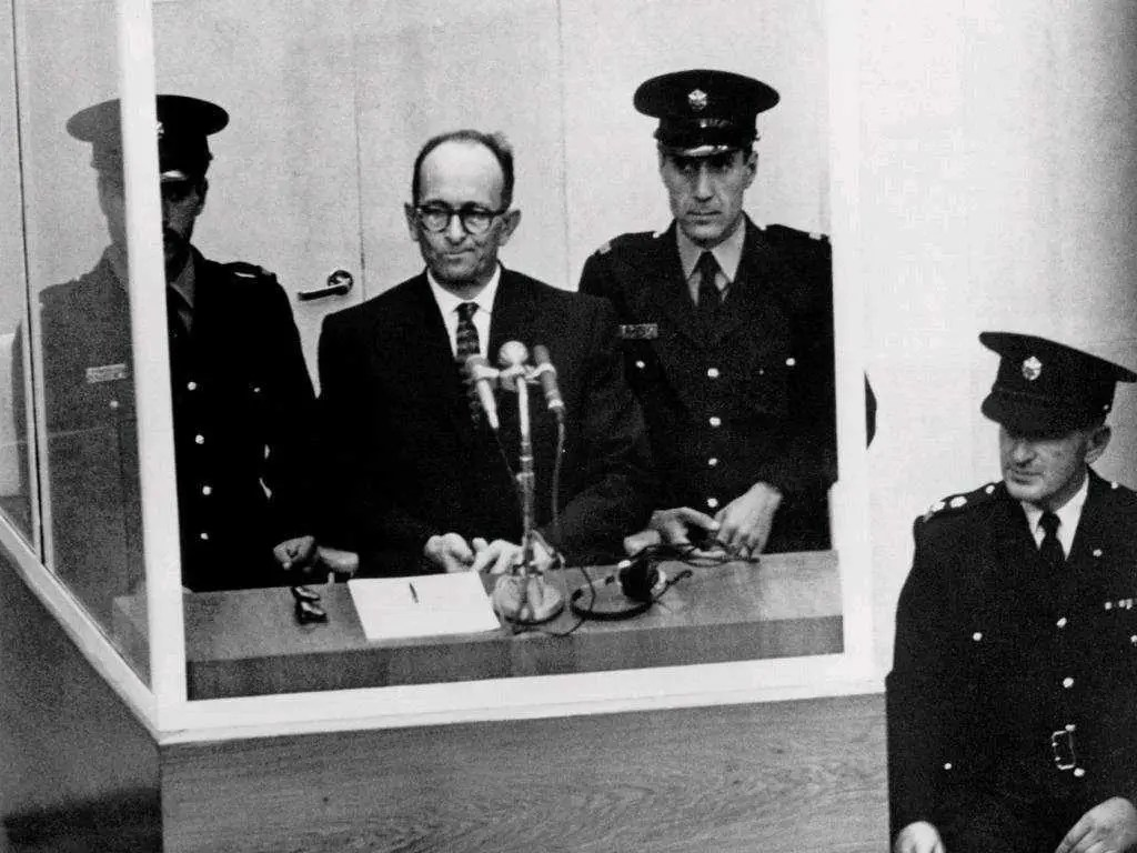 Adolph Eichmann on trial holocaust nazis wwII