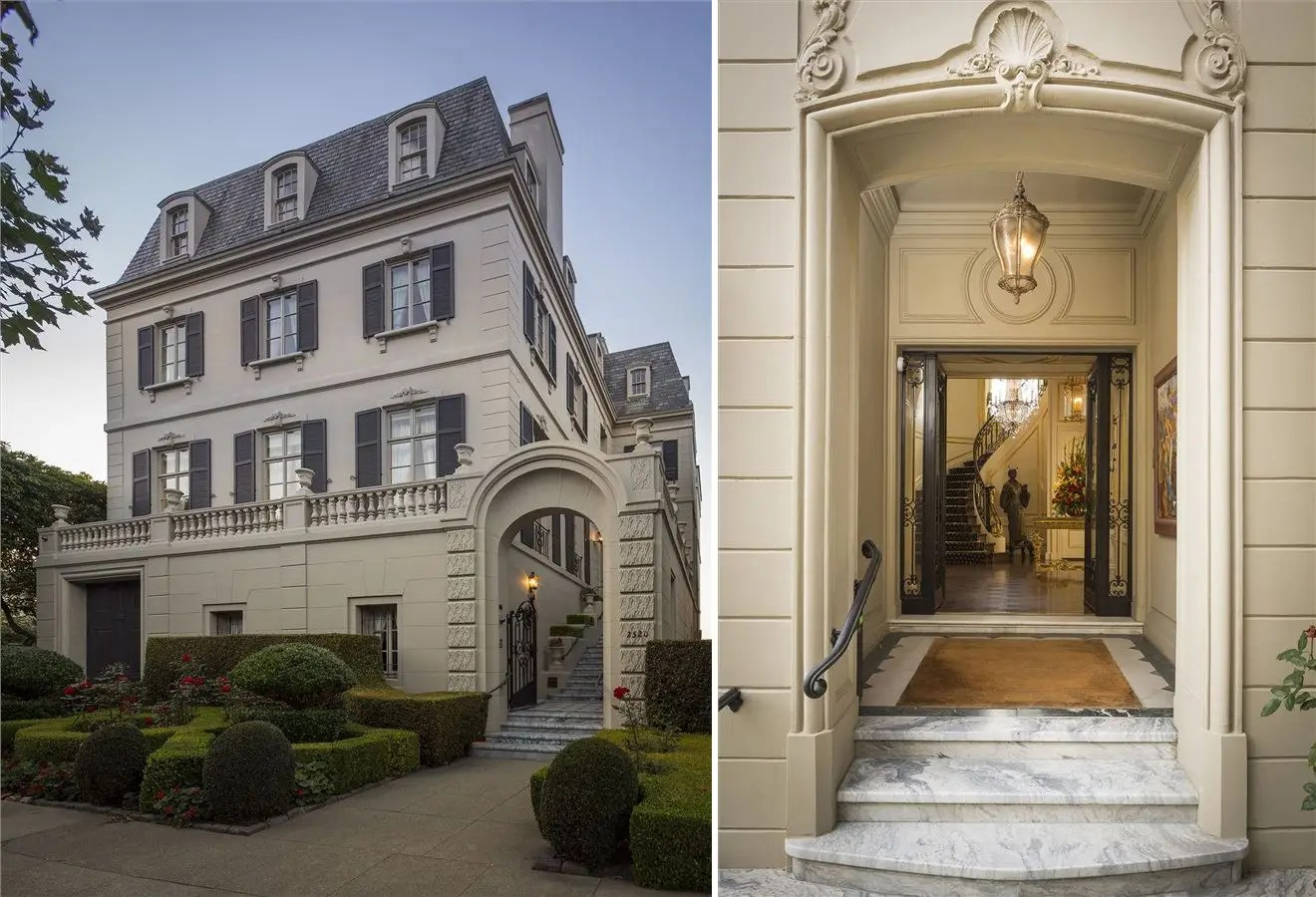 #13 The founder of for-profit education company University of Phoenix put his San Francisco mansion up for sale for $27 million. The nine-bedroom home had 13,000-square-feet with a hidden bar, Art Deco ballroom, and a library. It's still on the market today.